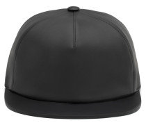 Matt black nappa leather hat TRACEY