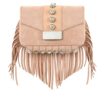 Suede clutch with fringes FEZ16