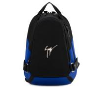 Black fabric backpack MACK