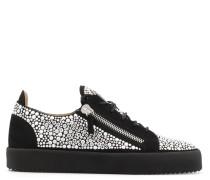 Black suede low-top sneaker with crystals MOONSHOT LOW