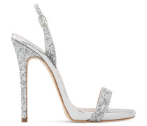Silver patent sandal with glitter SOPHIE GLITTER