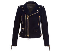 Dark blue velvet jacket ZIGGY