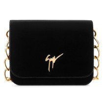 Velvet clutch with signature LISA