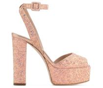 Pink fabric clog with glitter BETTY GLITTER
