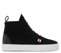 Black suede high-top sneaker GORDON HIGH
