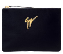 Velvet pouch with signature MARCEL