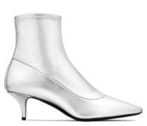 Silver laminated stretch fabric boot Salomè