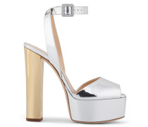 Mirrored silver leather clog BETTY