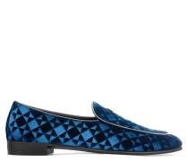 Blue printed velvet loafer G-FLASH
