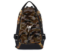 Green camouflage fabric backpack MACK