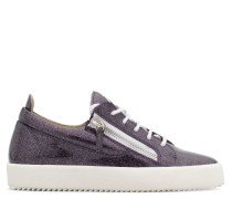 Violet patent leather glitter low-top sneaker with logo GAIL