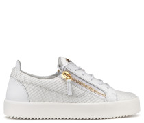 Python-embossed leather low-top sneaker NICKI