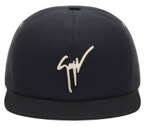 Black fabric and black leather hat KENNETH