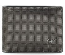 Grey printed suede wallet ALBERT