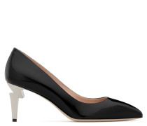 Black mirrored patent leather d G-HEEL
