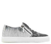 Crocodile embossed calfskin leather slip-on sneaker EVE