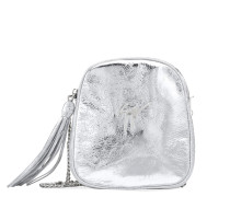 Silver leather shoulder bag BICE