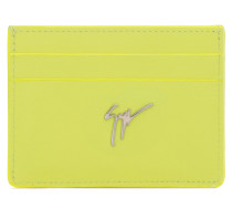 Yellow calfskin cardholder MIKY