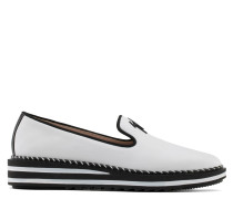 White nappa leather loafer TIM