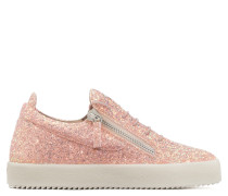 Pink fabric low-top sneaker with glitter finishing CHERYL GLITTER