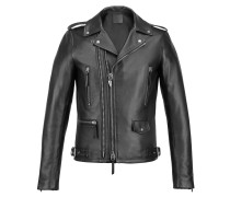Leather biker jacket DENZEL