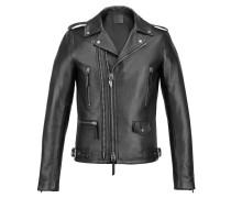 Men's black nappa leather jacket DENZEL