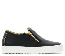 Black calfskin slip on sneaker MAURICE18