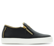 Black calfskin slip on sneaker MAURICE18