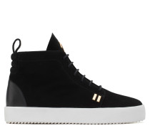 Black suede high-top sneaker GORDON HIGH