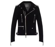 Velvet biker jacket KIAN