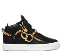 Chain Mid Top Sneakers