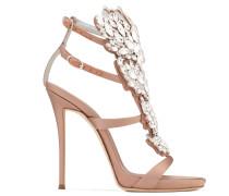 Blush satin sandal with 'Cruel' crystals accessory CRUEL SPARKLE