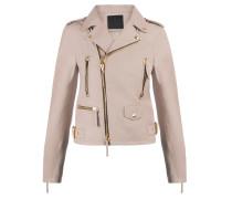 Pink nappa motorcycle jacket AMELIA