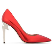 Mirrored red patent leather pump G-HEEL