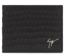 Black crocodile embossed wallet ALBERT