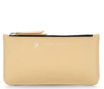 Beige calfskin leather wallet MAPLE39