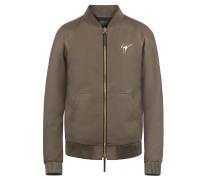 Green nappa leather jacket DONALD