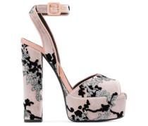 Pink velvet upper clog with glitter and velvet details BETTY