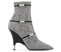 Black and white embroidered boot JOLEEN