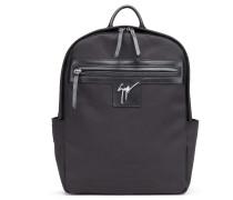 Black fabric backpack BARON