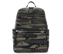 Green camouflage fabric backpack SPACE18
