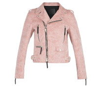 Pink fabric motorcycle jacket AMELIA