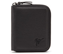 Black soft leather wallet TOM