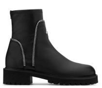 Black leather boot with zips detail RODGER