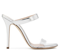 Plexi and silver patent leather mule NEW DARSEY
