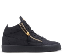 Black crocodile-embossed sneaker KRISS