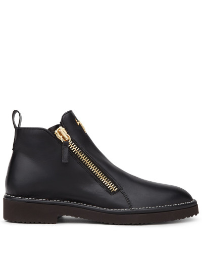 Leather boot with zip AUSTIN