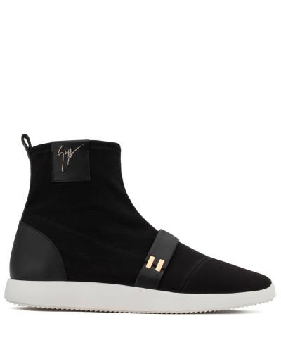 Giuseppe Zanotti Herren Black canvas high-top sneaker WARREN Erschwinglich Verkauf Größten Lieferanten Exklusive Online Neu Werden Große Überraschung rWLE5