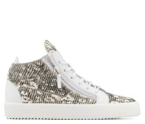 Multicolour printed fabric mid-top sneaker KRISS