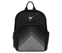 Black matt with silver studs backpack CASCADE